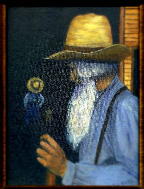 Men Poster featuring the painting Eli Remembers by Gail Kirtz