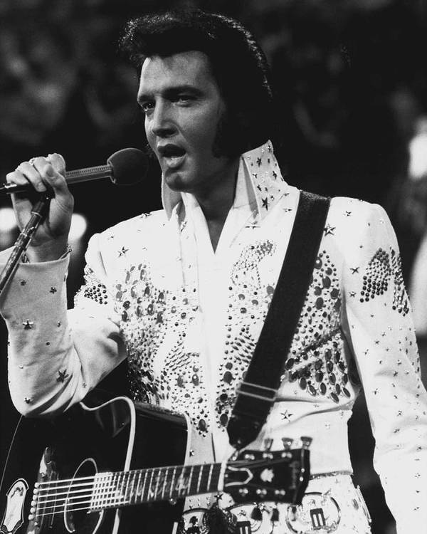 Classic Poster featuring the photograph Elvis Presley Singing by Retro Images Archive