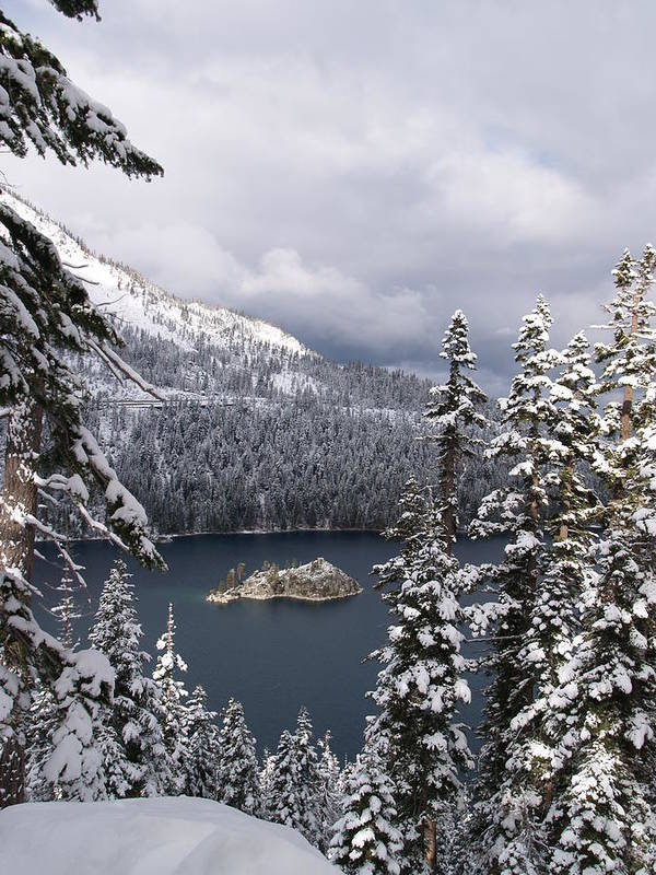 Emerald Bay Poster featuring the photograph Emerald Bay In Winter by Egon Klementi