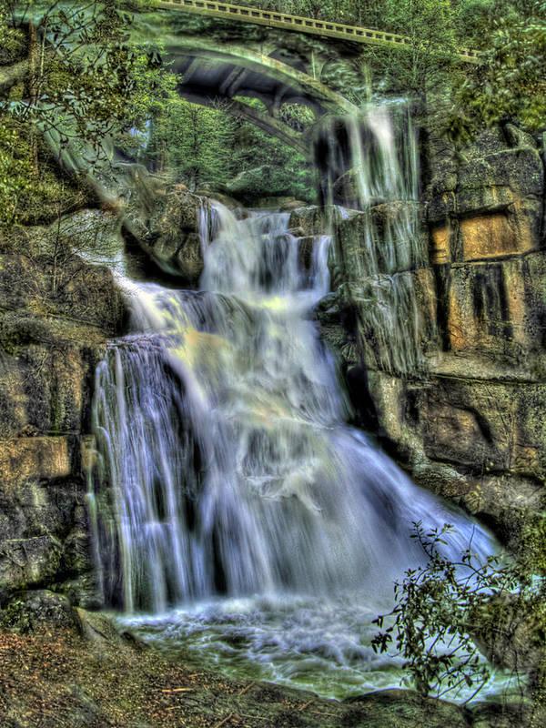 Cascade Creek Poster featuring the photograph Emerald Cascade by Bill Gallagher