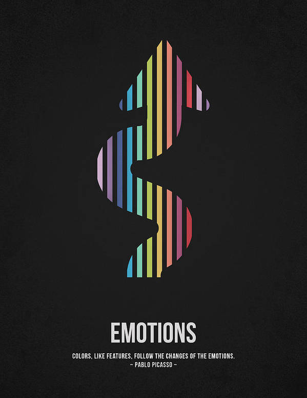 Colors Poster featuring the drawing Emotions by Aged Pixel