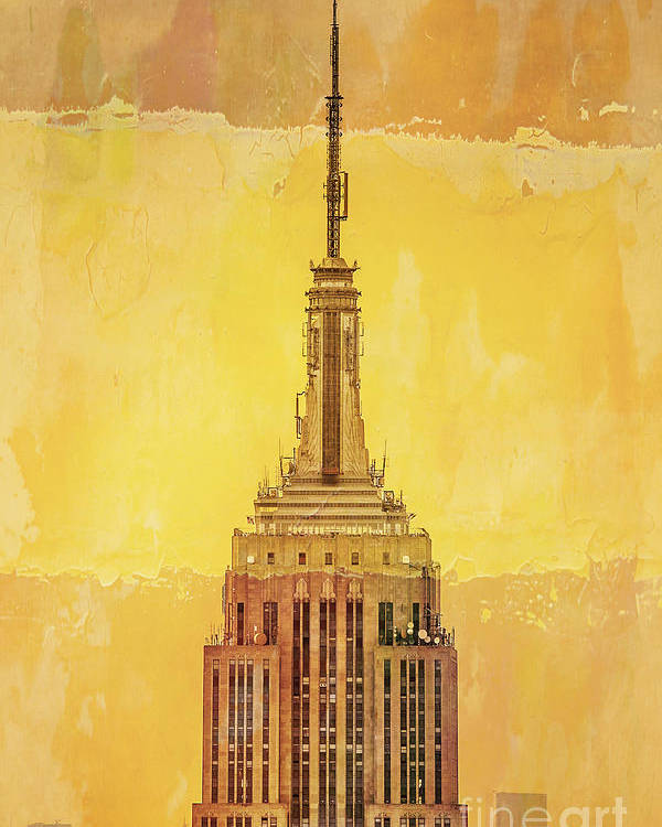 New York Poster featuring the digital art Empire State Building 4 by Az Jackson