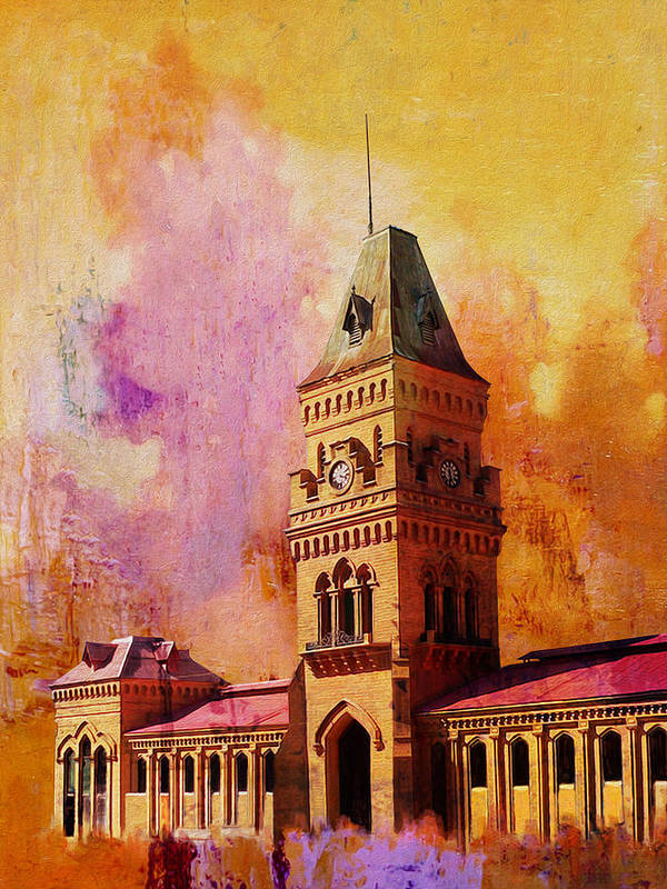 Pakistan Poster featuring the painting Empress Market by Catf
