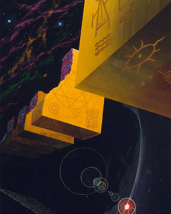 Cosmic Art Poster featuring the painting End of the Journey to Find God by Yuichi Tanabe