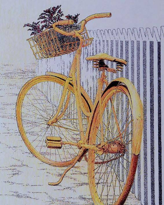 Bicycle Yellow Summer Flowers Plants Poster featuring the painting Endless Summer by Tony Ruggiero