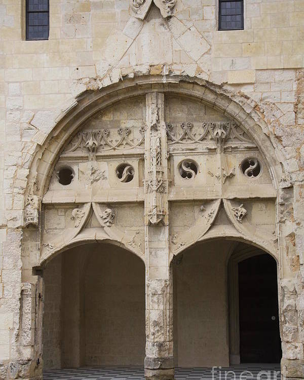 Cloister Poster featuring the photograph Entrance Fontevraud Abbey- France by Christiane Schulze Art And Photography