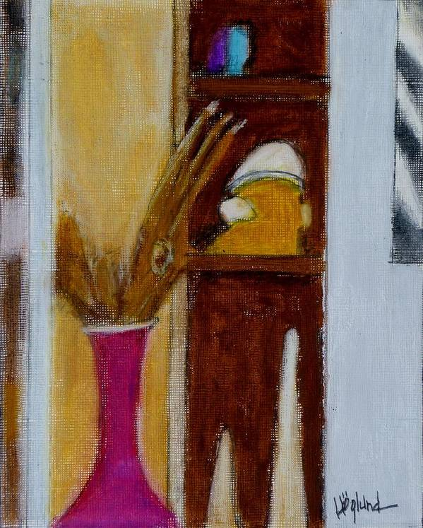 Abstract Entry Way Crayon Painting Poster featuring the painting Entry 1 by Daniel Hoglund