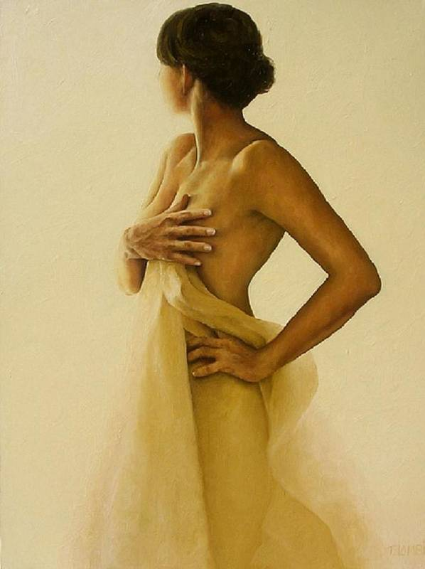 Nude Poster featuring the painting Ephemeral Nude 3 by Trisha Lambi