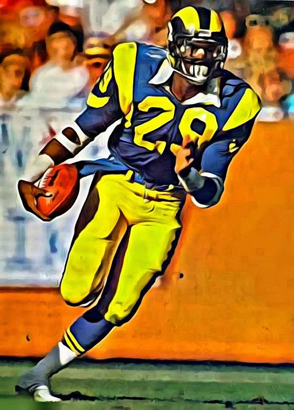 Eric Dickerson Poster featuring the painting Eric Dickerson by Florian  Rodarte b3cff463c
