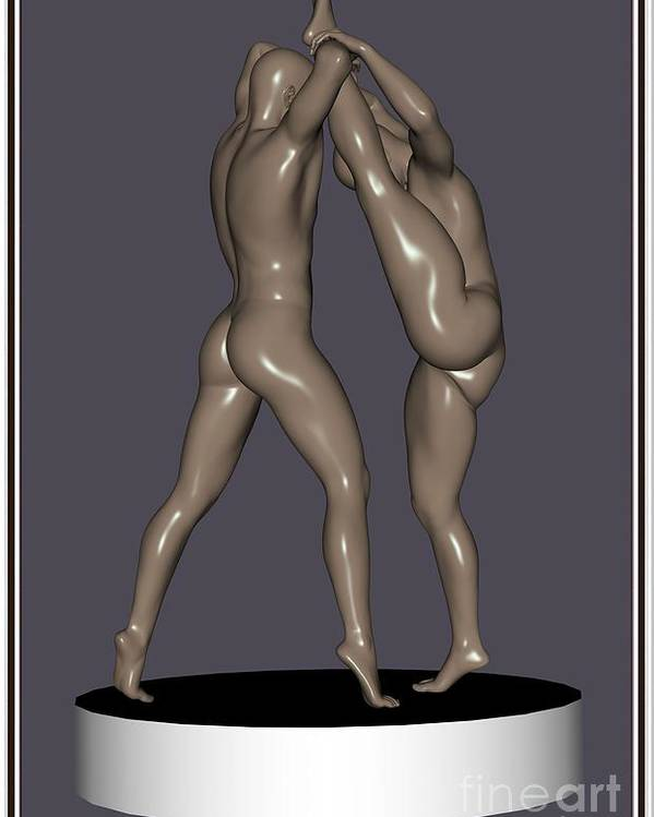 Modern Painting Poster featuring the painting erotic acrobatics 5EA 1 by Pemaro