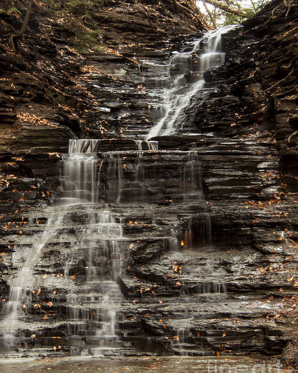 Waterfall Poster featuring the photograph Eternal Flame Waterfalls by Darleen Stry