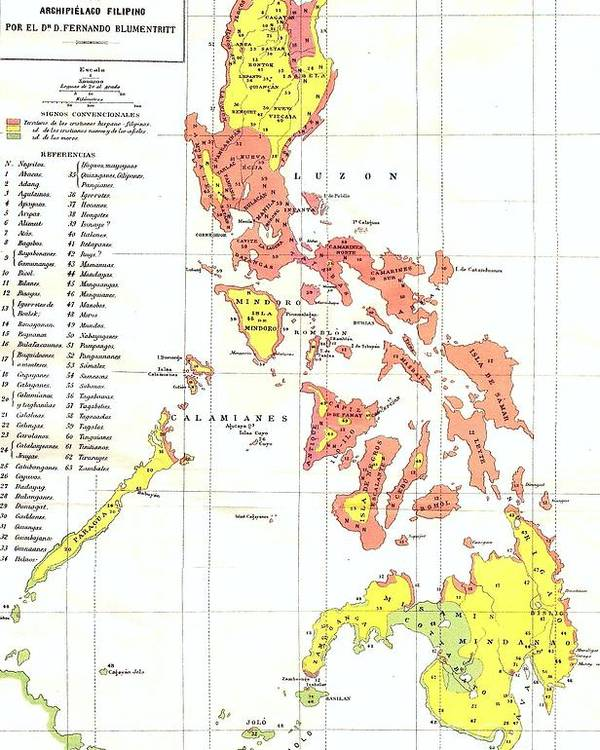 Ethnographic Map Philippines Poster by Reproduction