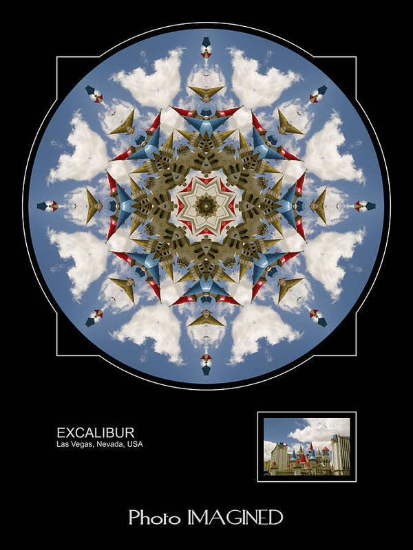 Kaleidoscope Poster featuring the digital art Excalibur by Mike Johnson
