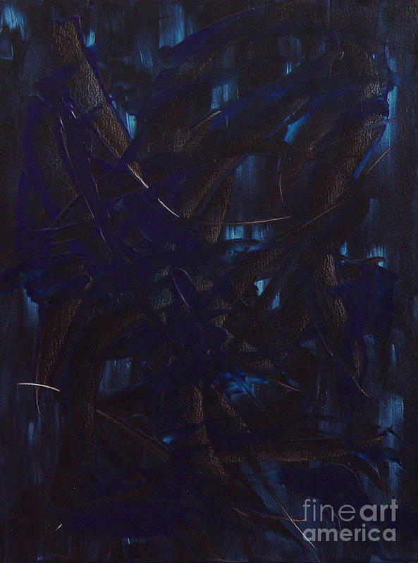 Abstract Poster featuring the painting Expectations Blue by Dean Triolo