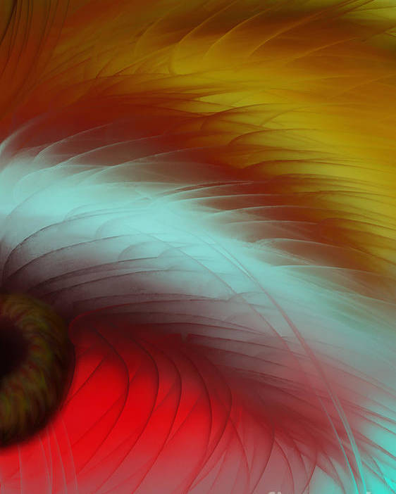 Abstract Poster featuring the painting Eye Of The Beast by Anita Lewis