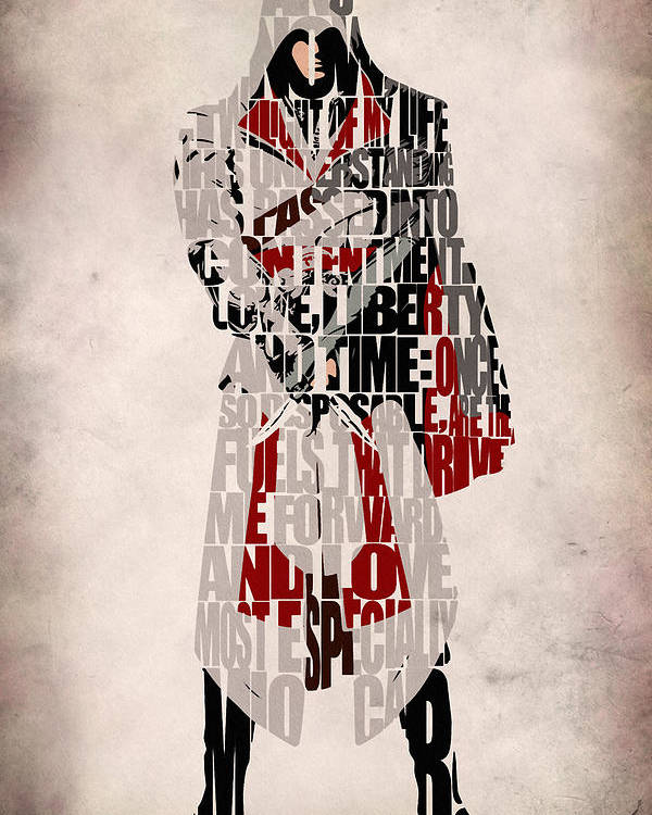 Ezio Assassin S Creed Brotherhood Poster By Inspirowl Design