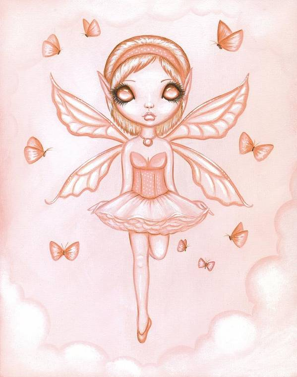 Fantasy Fairy Poster featuring the painting Fae Colours 06 by Elaina Wagner