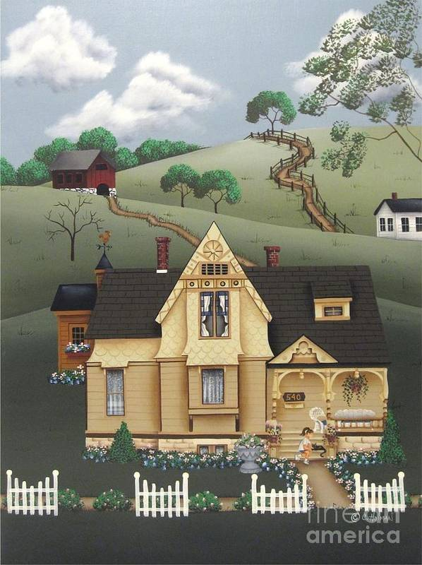 Art Poster featuring the painting Fairhill Farm by Catherine Holman