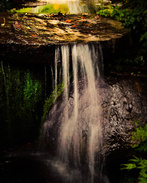 Loriental Poster featuring the photograph Fairy Falls by Loriental Photography