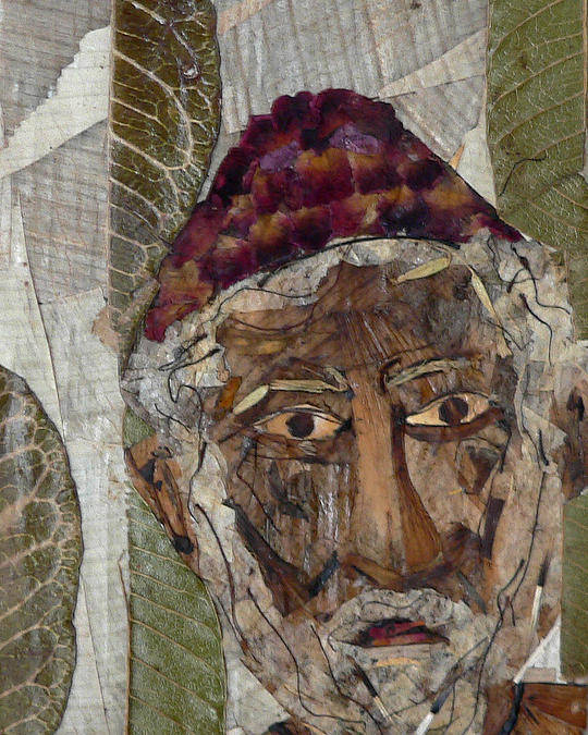 Portrait.holy Person Portrait Poster featuring the mixed media Fakeer by basant Soni