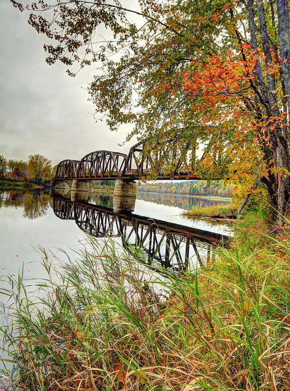 Fall Poster featuring the photograph Fall Along The Miramichi by Jason Bennett