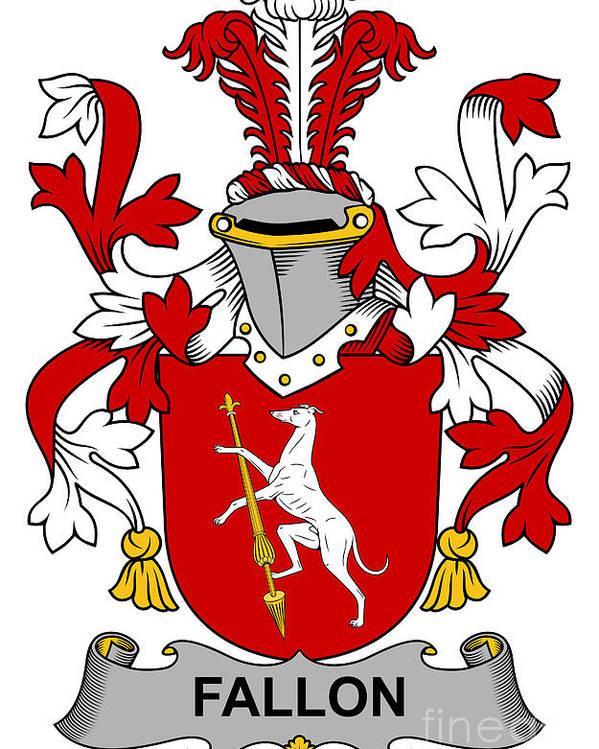 Fallon Poster featuring the digital art Fallon Coat Of Arms Irish by Heraldry