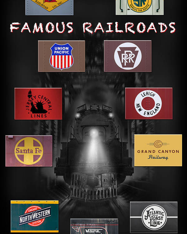 Transportation Poster featuring the photograph Famous Railroads by Mike McGlothlen