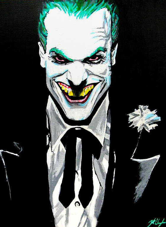 46c6c3e2 Joker Painting Poster featuring the painting Fan Made Alex Ross Joker by  Zakk Washington