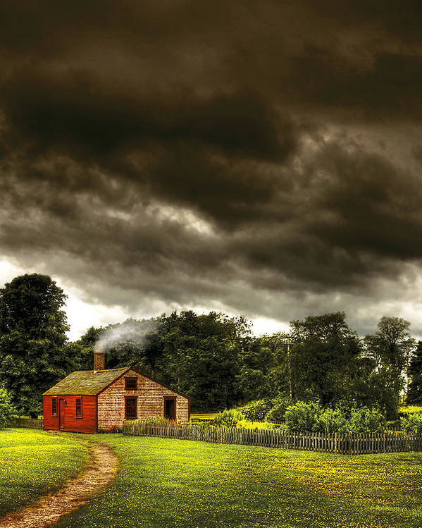 Savad Poster featuring the photograph Farm - Barn - Storms A Comin by Mike Savad