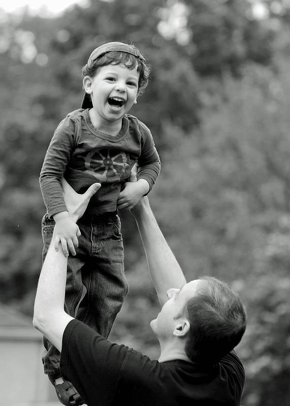 Portraits Poster featuring the photograph Father And Son IIi by Lisa Phillips