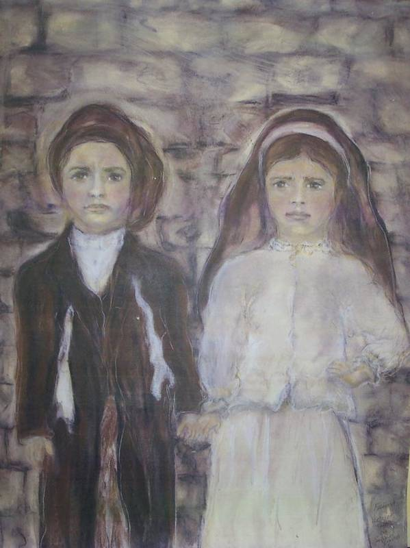Catholic Art Poster featuring the painting Fatima by Suzanne Reynolds