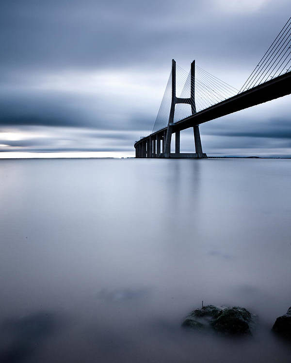 Lisbon Poster featuring the photograph Feeling Blue by Jorge Maia