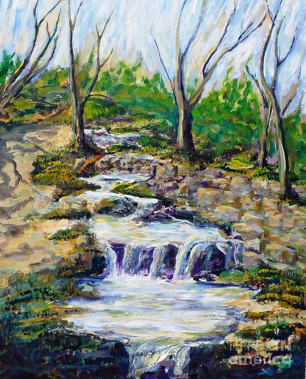 Los Angeles Poster featuring the painting Ferndell Creek Noon by Randy Sprout
