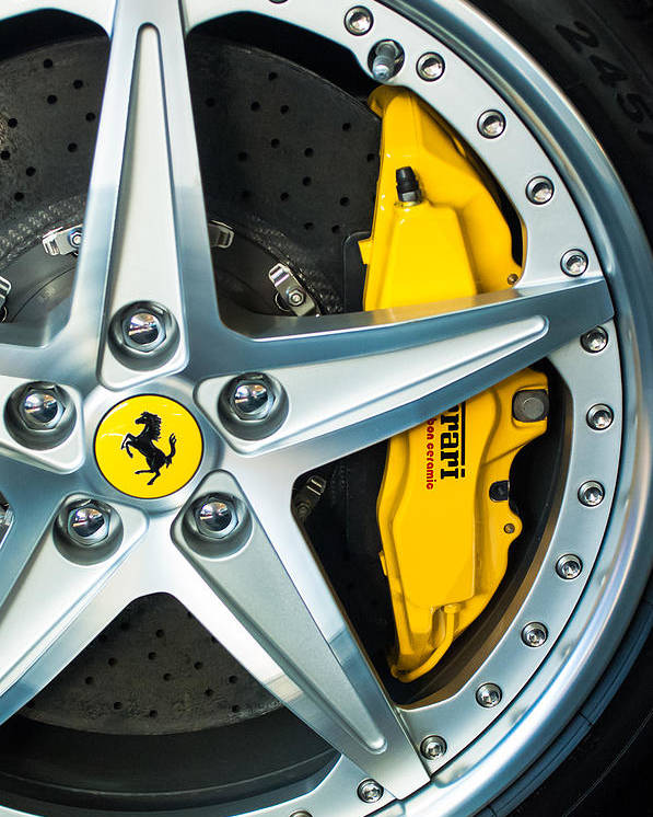 Ferrari Poster featuring the photograph Ferrari Wheel 3 by Jill Reger