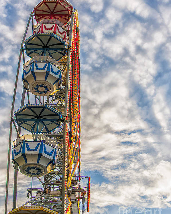 Sky Poster featuring the photograph Ferris Wheel by Antony McAulay