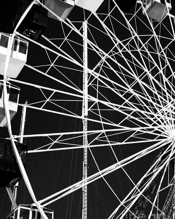 Ferris Wheel Lines Poster featuring the photograph Ferris Wheel Lines by John Rizzuto