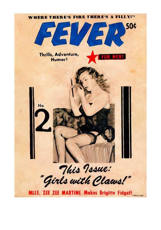 Fever Poster featuring the digital art Fever - Vintage Magazines Covers Series by Gabriel T Toro
