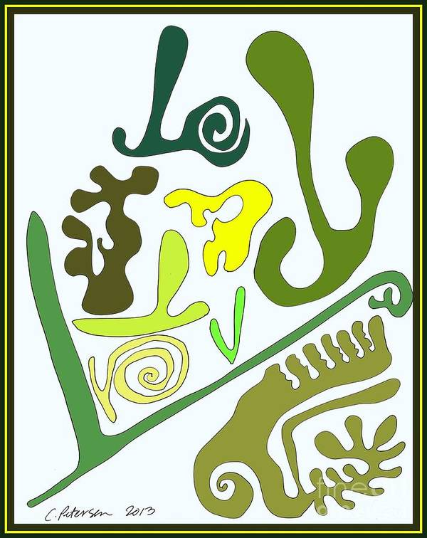 Cathy Peterson Poster featuring the painting Finding The Love In My Garden. by Cathy Peterson
