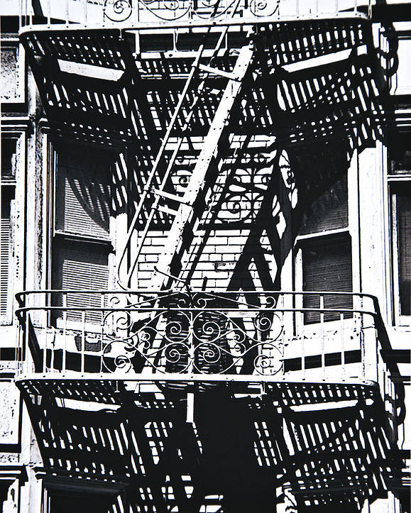 Architecture Poster featuring the photograph Fire Escape by Larry Butterworth