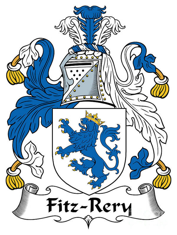 Fitz-rery Poster featuring the digital art Fitzrery Coat Of Arms Irish by Heraldry