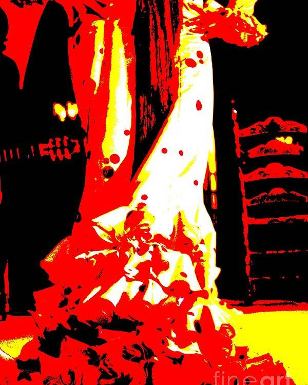 Flamenco Poster featuring the photograph Flamenco Passion by Sophie Vigneault