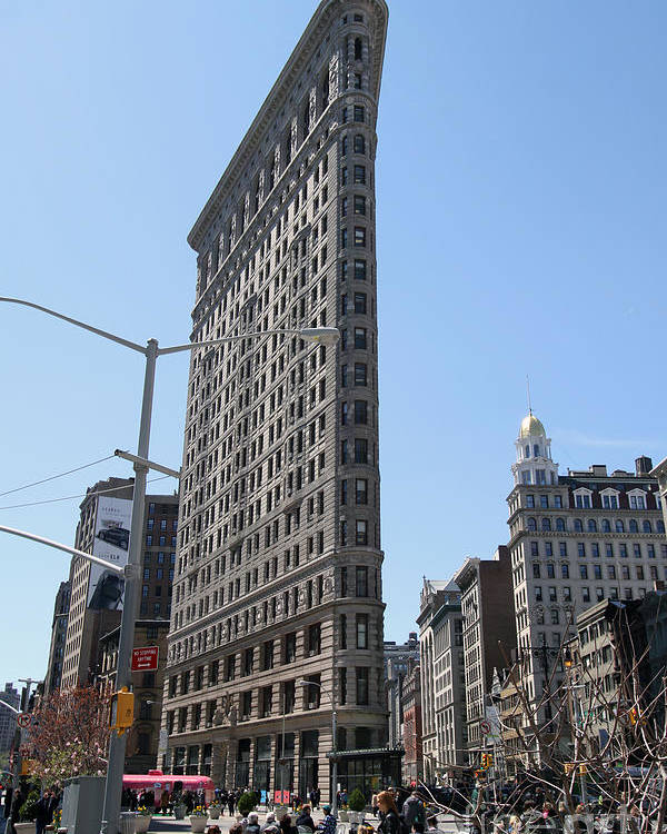 Flatiron Building Poster featuring the photograph Flatiron Building-2 by Steven Spak