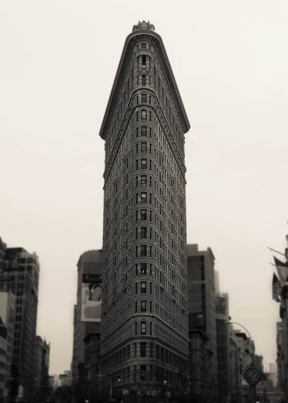 Flatiron Poster featuring the photograph Flatiron Building - Nyc by Nicklas Gustafsson