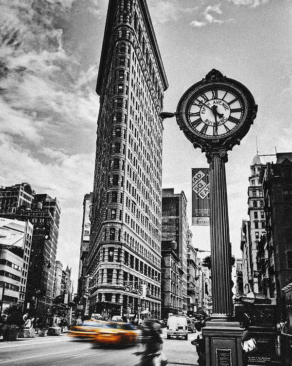 Flatiron Poster featuring the photograph Flatiron Rush by Andrew Paranavitana
