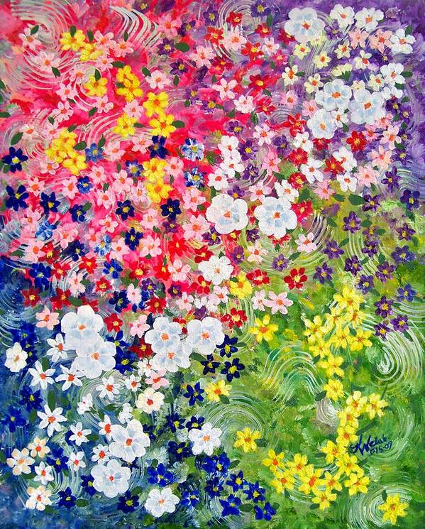 Flower Poster featuring the painting Flower Garden by Kathern Ware