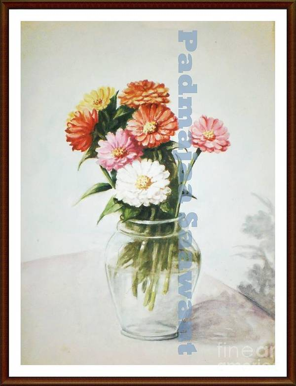 Poster featuring the painting Flower Pot by Nalini Sawant