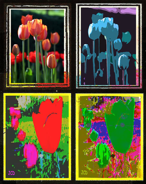 Flower Poster featuring the digital art Flowers Only by Jean-Claude Delhaise