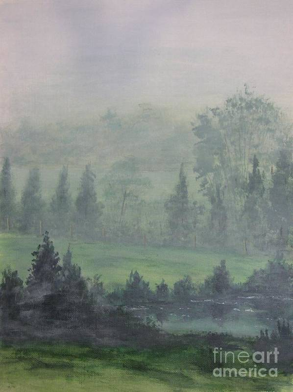 Painting Poster featuring the painting Foggy Bottom Tennessee by Dana Carroll