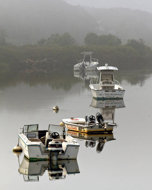 Cape Poster featuring the photograph Foggy Moorings by Carl Jacobs