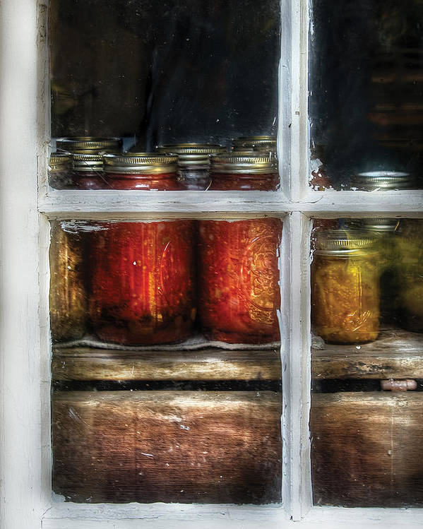 Savad Poster featuring the photograph Food - Country Preserves by Mike Savad